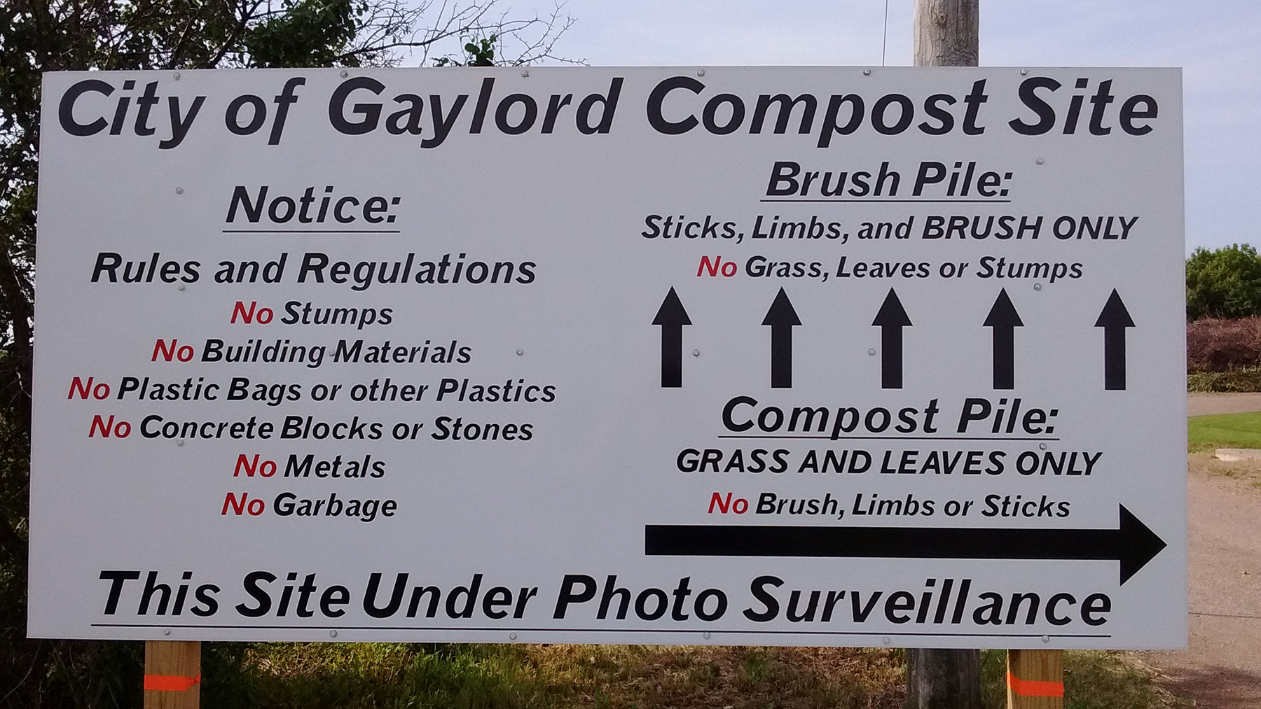 City of Gaylord Compost Sign