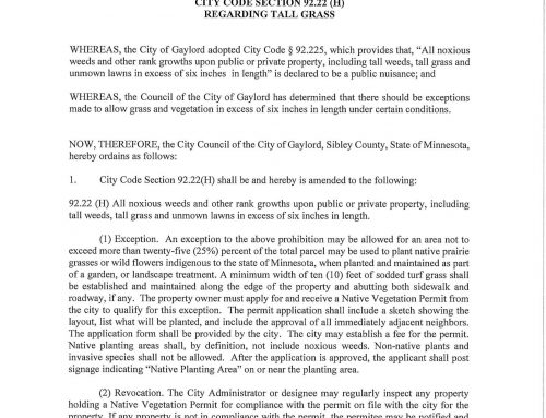 ORDINANCE DRAFT